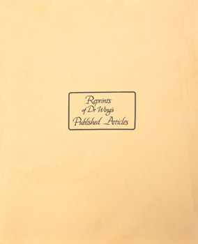 Dr. Thomas Wing - Reprints 1 - front cover
